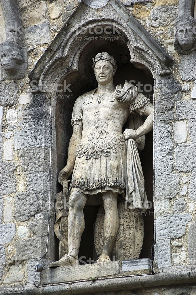 King George III statue, Southampton royalty-free stock photo