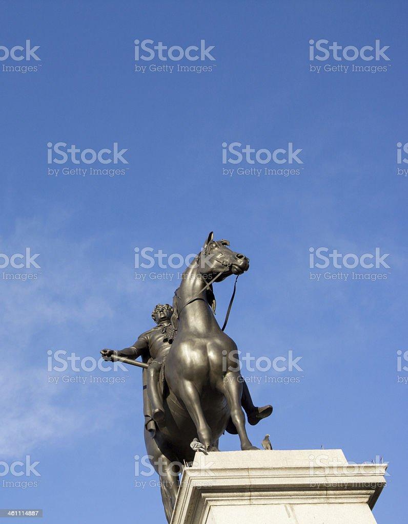 King George IV in Trafalgar Square, London stock photo