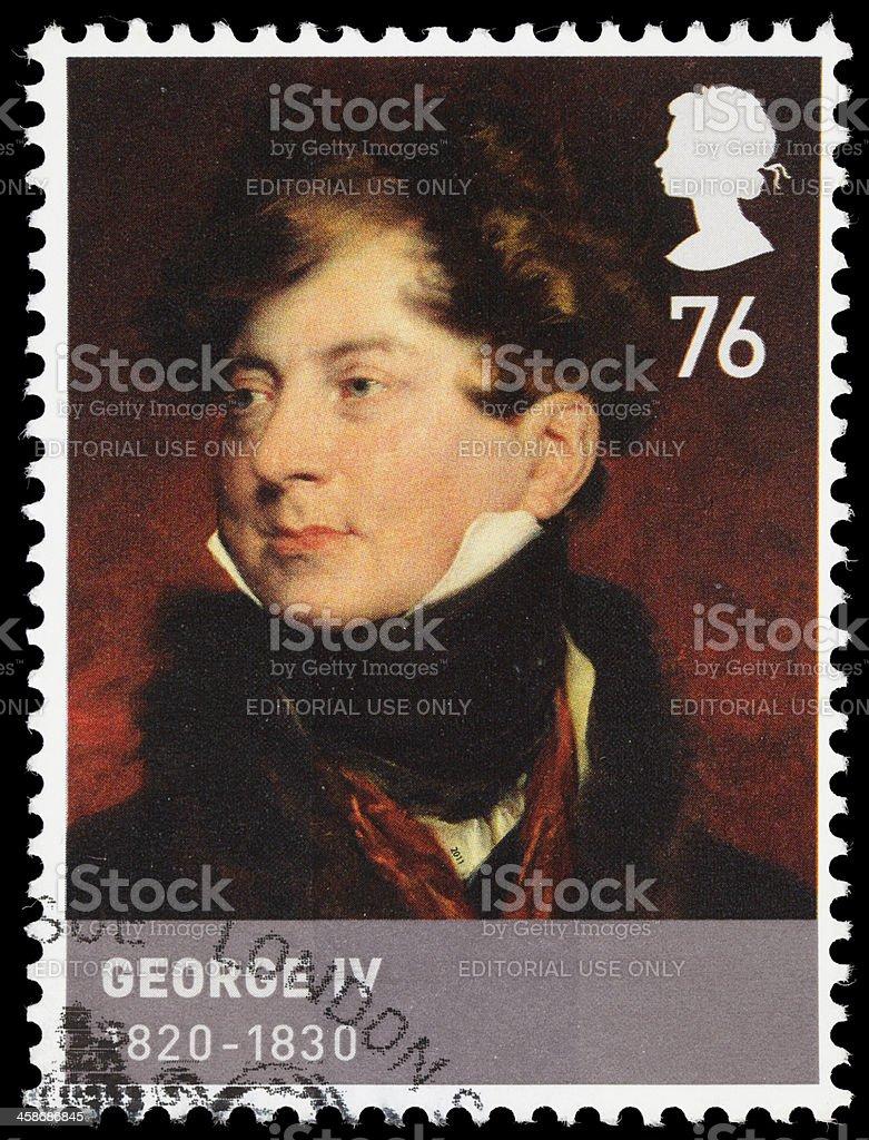 UK King George IV postage stamp stock photo