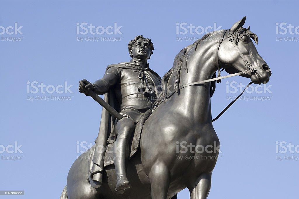 King George IV Statue stock photo