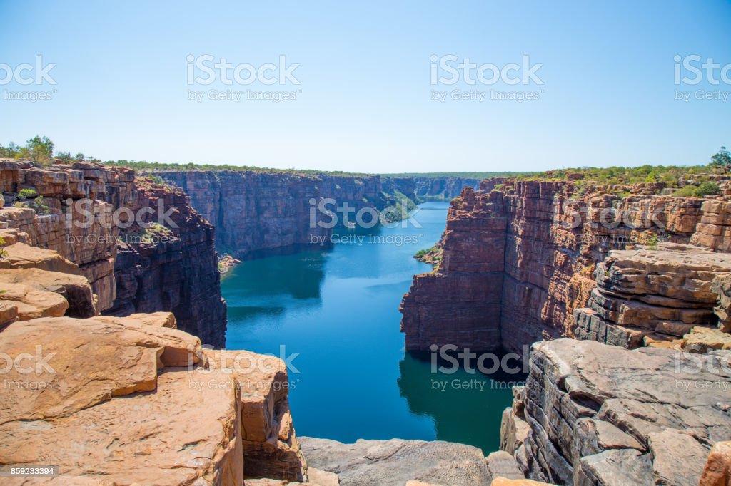 King George River Gorge, Kimberley, Australia stock photo