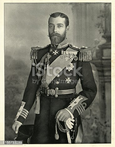 Vintage photograph of King George V, as Duke of York 1896.