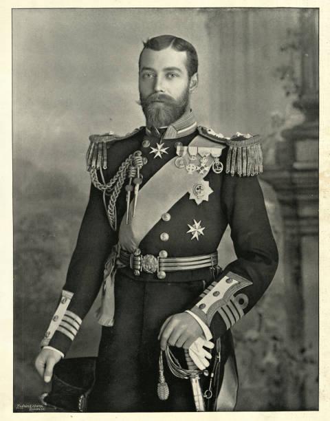 King George V, as Duke of York 1896 stock photo