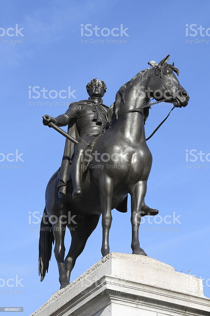 King George VI monument royalty-free stock photo
