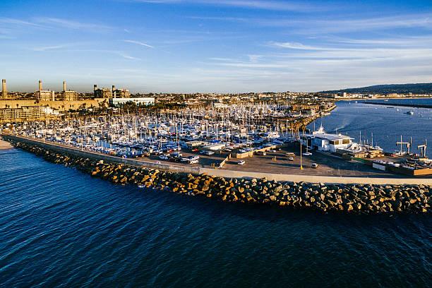 King Harbor Redondo Beach stock photo