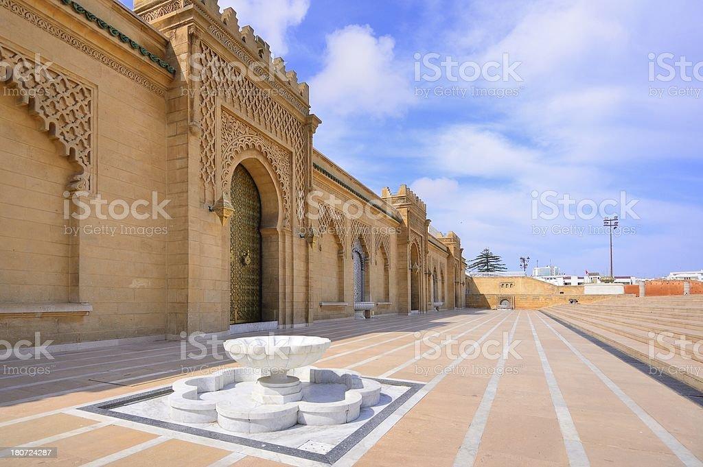 King Hassan II Walkway stock photo