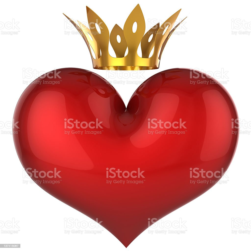 King heart. Lucky love (Hi-Res) royalty-free stock photo