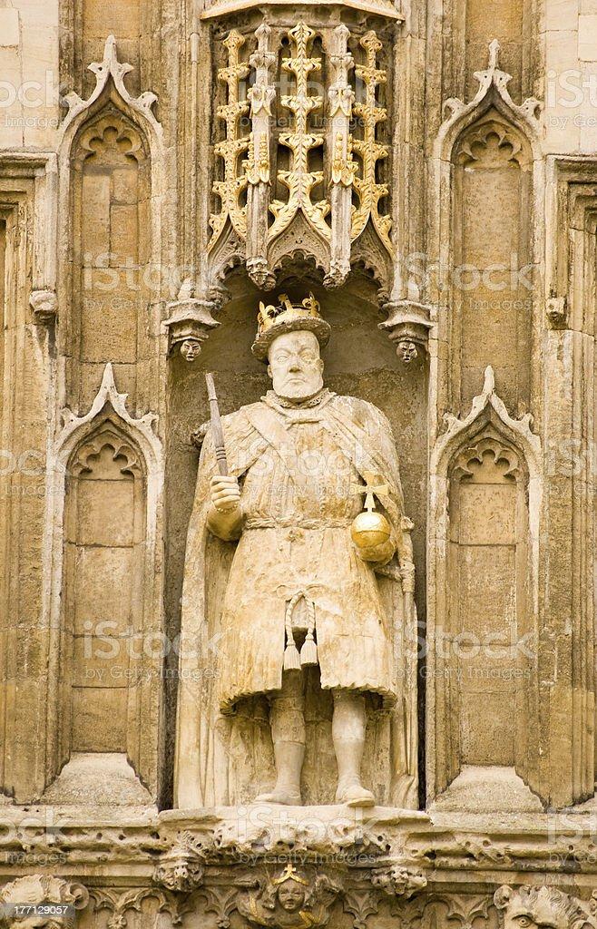 King Henry VIII statue, Cambridge stock photo