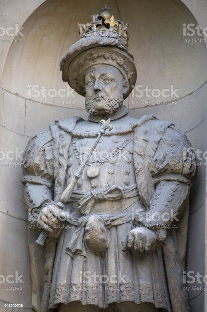 King Henry VIII Statue in London, UK stock photo