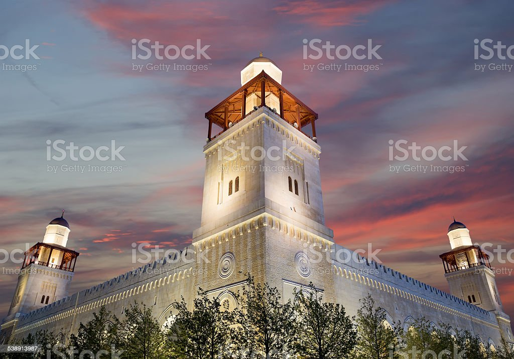 King Hussein Bin Talal Mosque In Amman Jordan Stock Photo