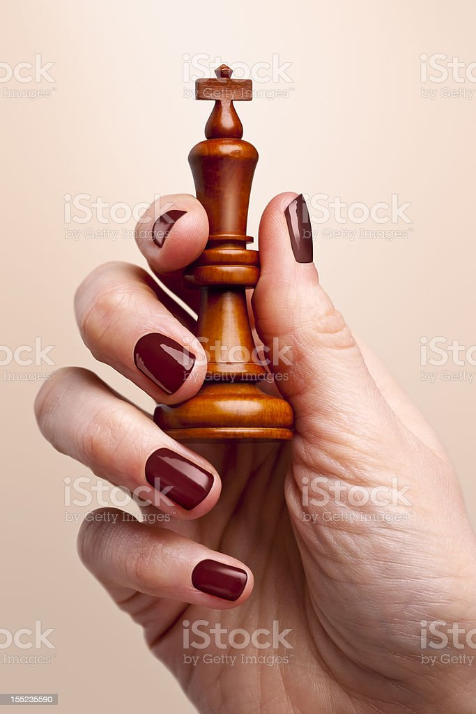 King in hand royalty-free stock photo