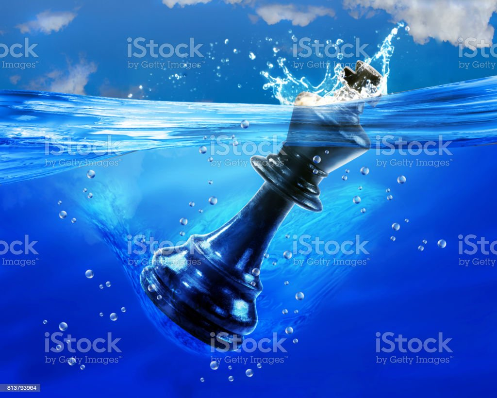 King in Water. stock photo