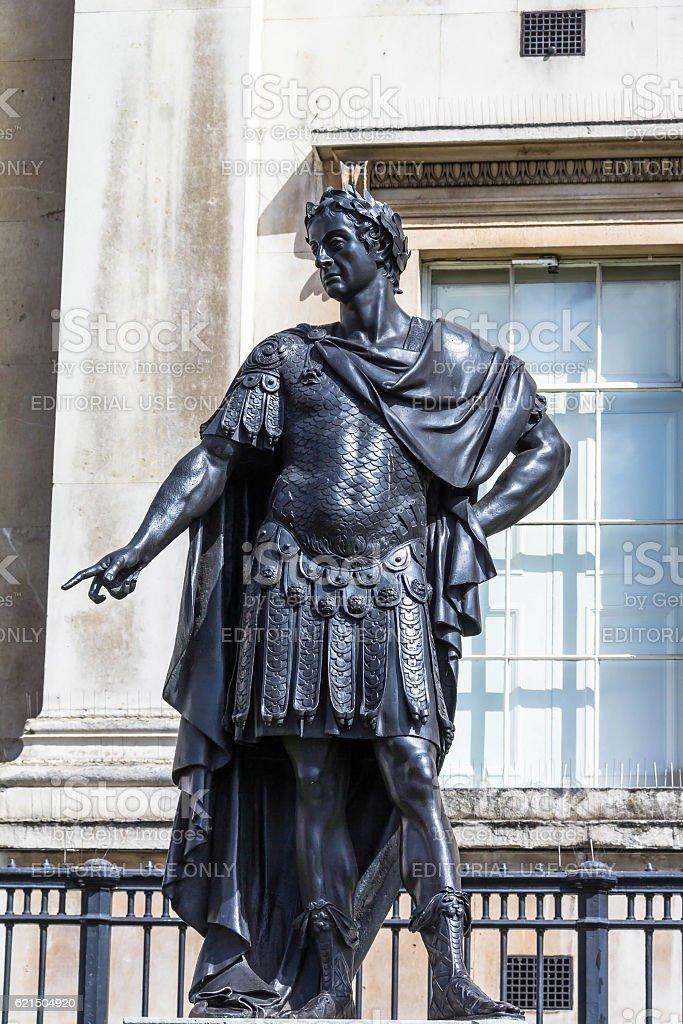 King James II of England Historic Statue.  London photo libre de droits