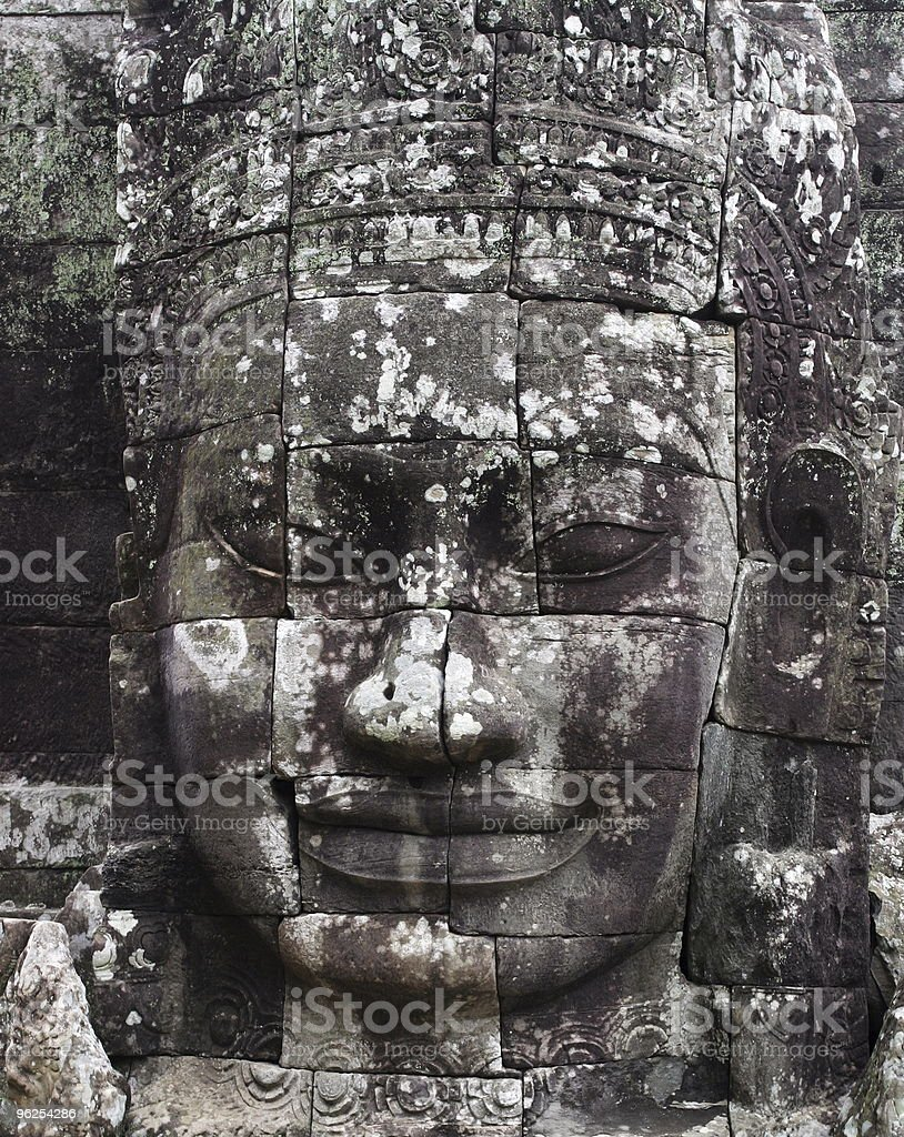 King Jayavarman VII. Bayon Temple, Angkor Wat, Siem Riep, Cambodia. - Royalty-free Angkor Stock Photo