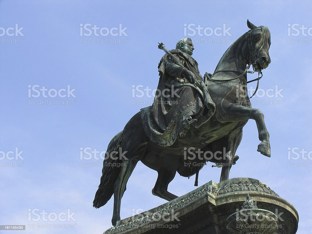 king Johann statue royalty-free stock photo