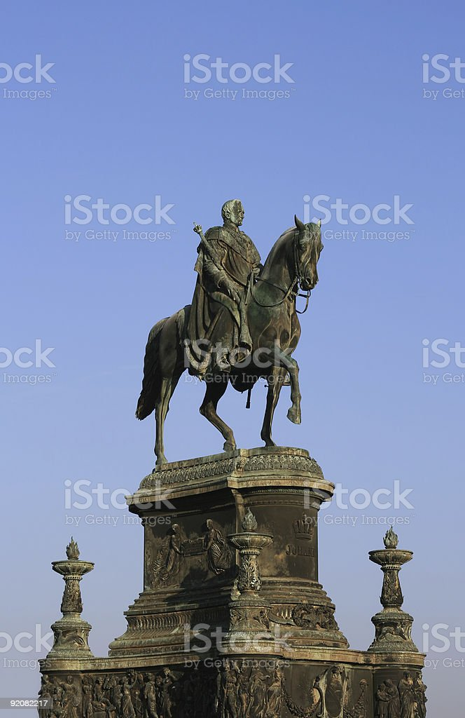 King John of Saxony (Dresden, Germany) royalty-free stock photo