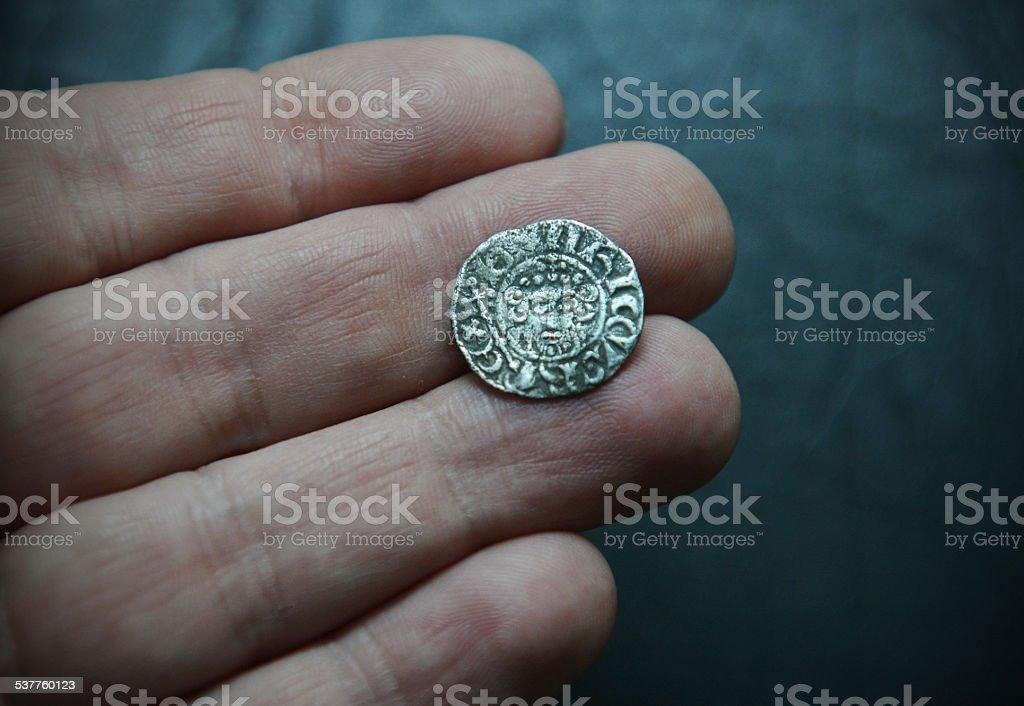 King John Silver Penny stock photo