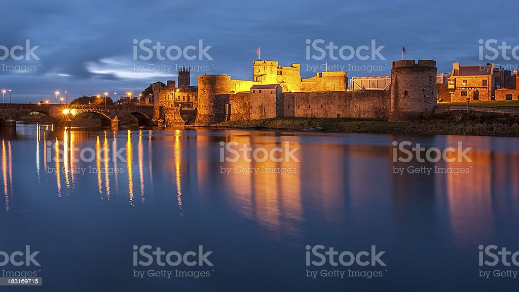 King John's castle on the River Shannon stock photo