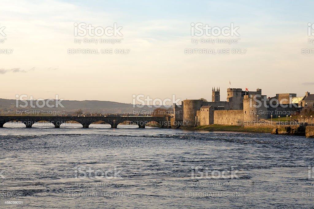 King Jonh's Castle, in Limerick, Ireland stock photo