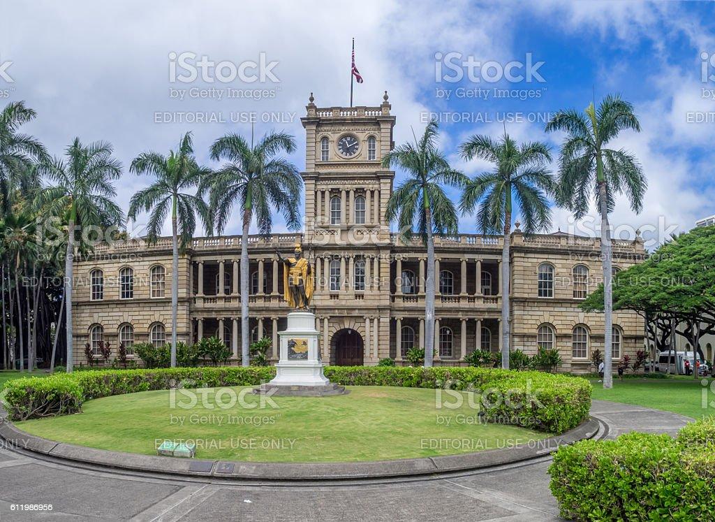 King Kamehameha I, Ali iolani Hale stock photo