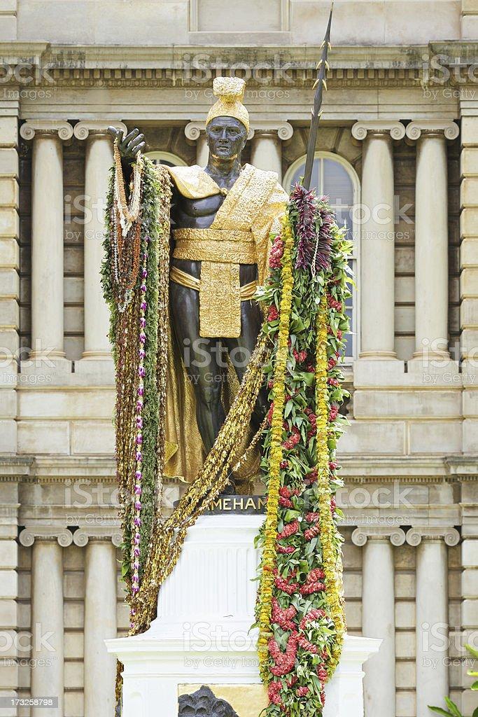 King Kamehameha Statue royalty-free stock photo