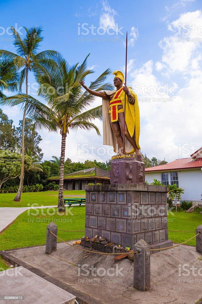 King Kamehameha 像 ストックフォト