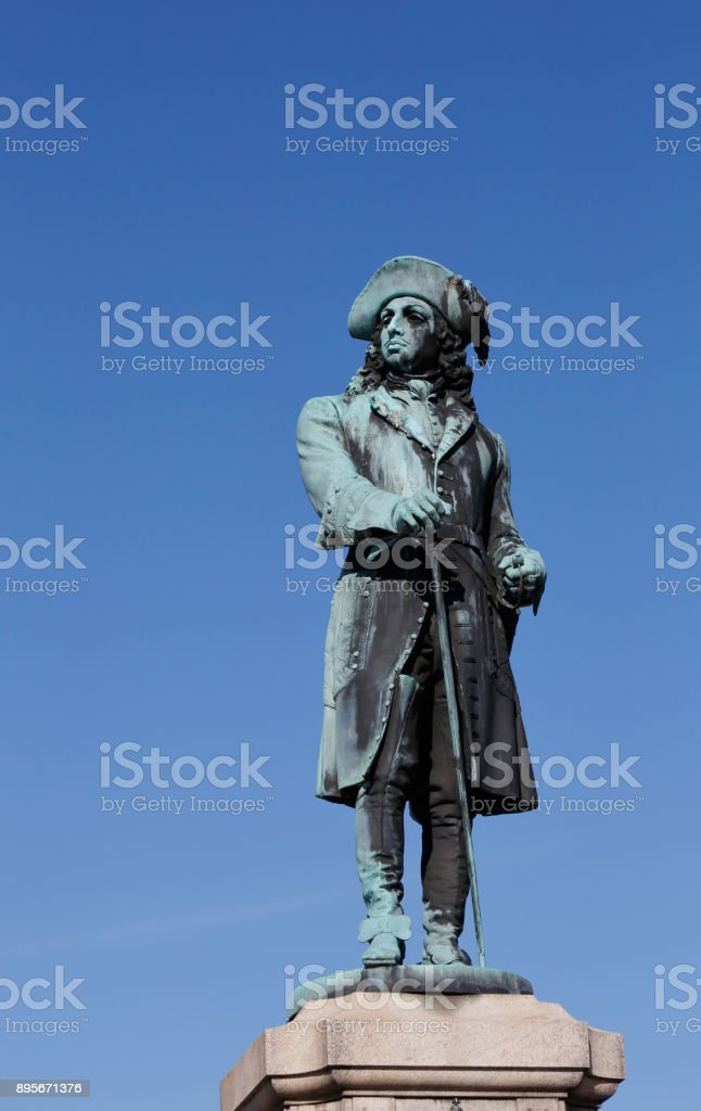 King Karl XI statue stock photo