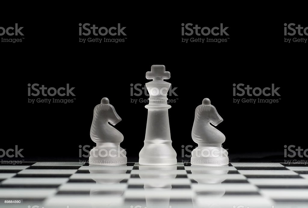 King & Knights royalty-free stock photo