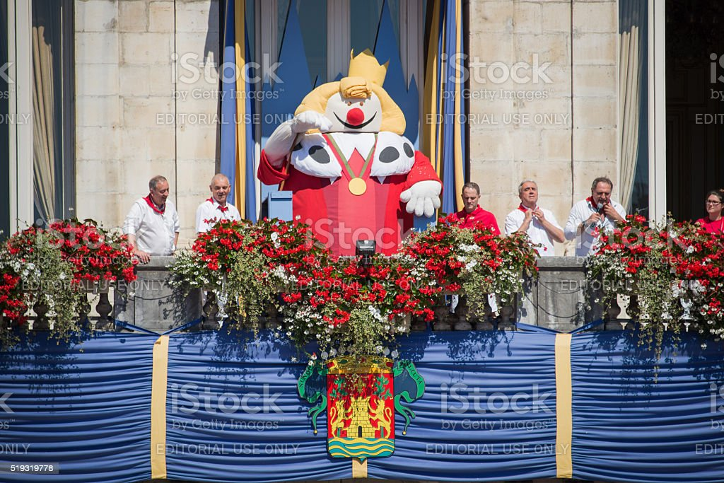 King Leon puppet at the Summer festival in Bayonne stock photo