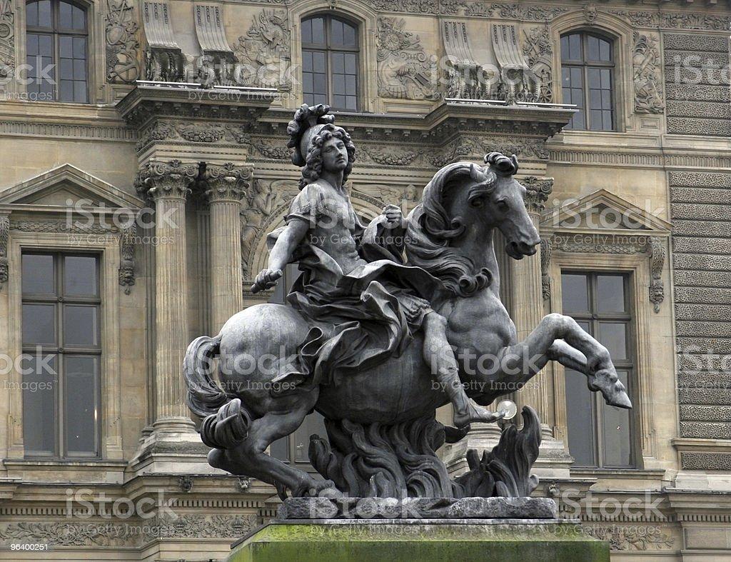 King Louis statue royalty-free stock photo