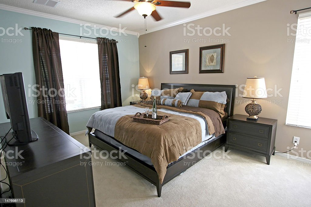 King Master Bedroom royalty-free stock photo