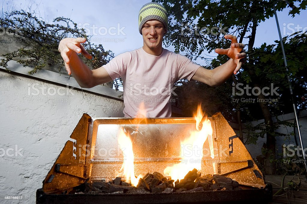king of fire stock photo