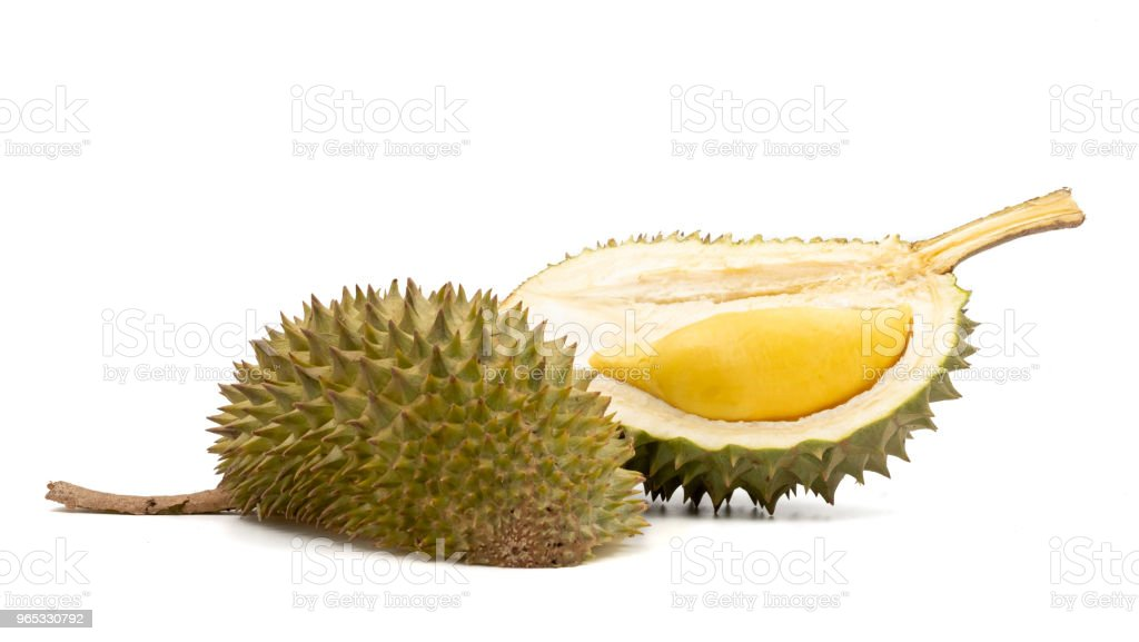 King of Fruits, Durian on white background zbiór zdjęć royalty-free