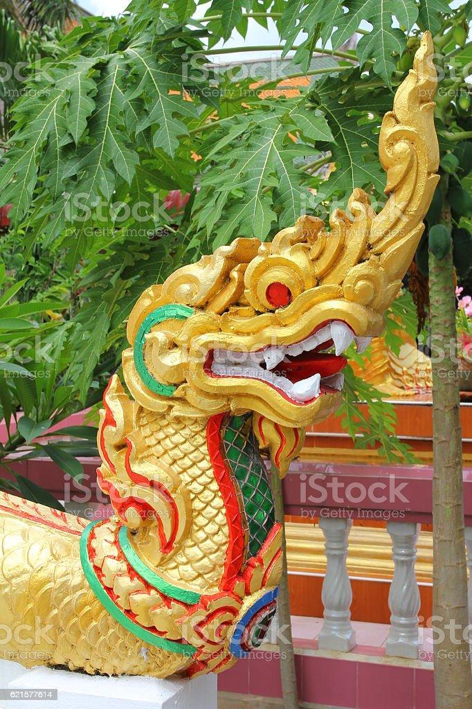 King of Naga, Thai Dragon, Temple in thailand photo libre de droits