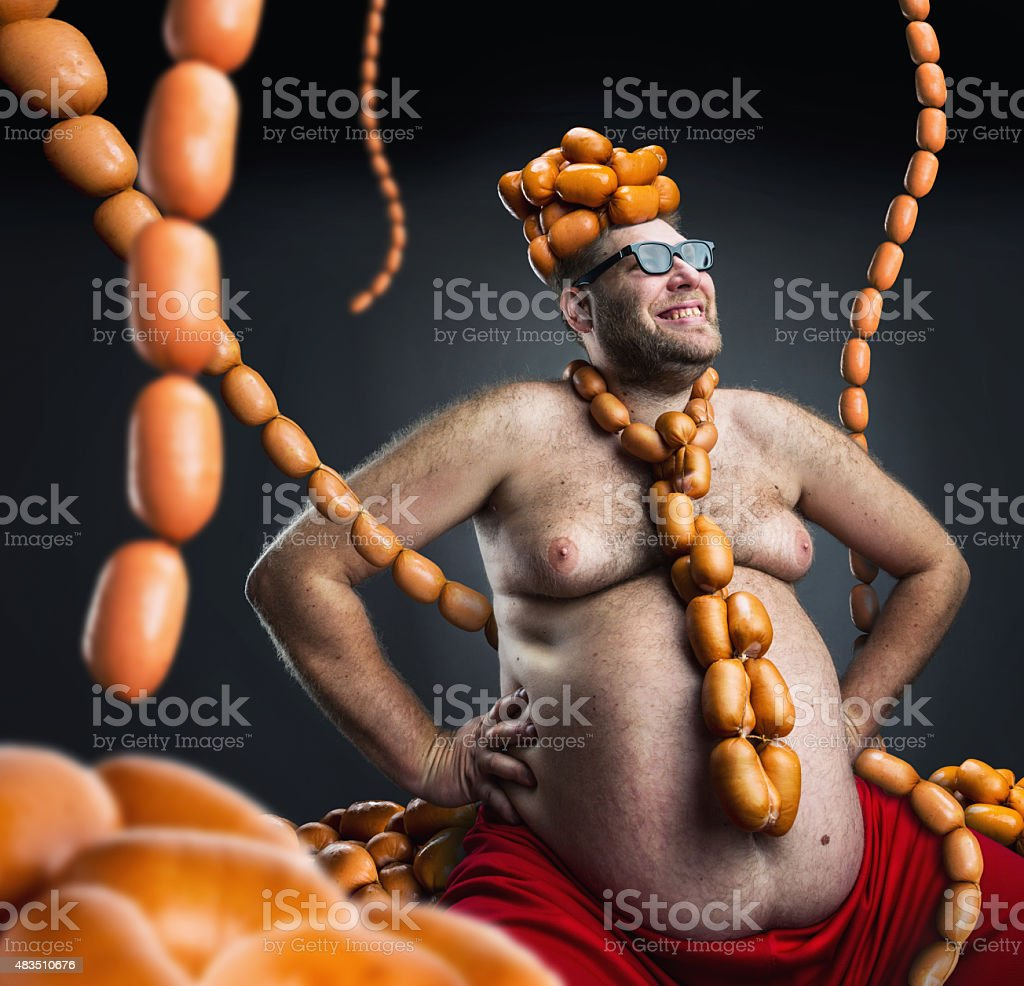King of sausages stock photo