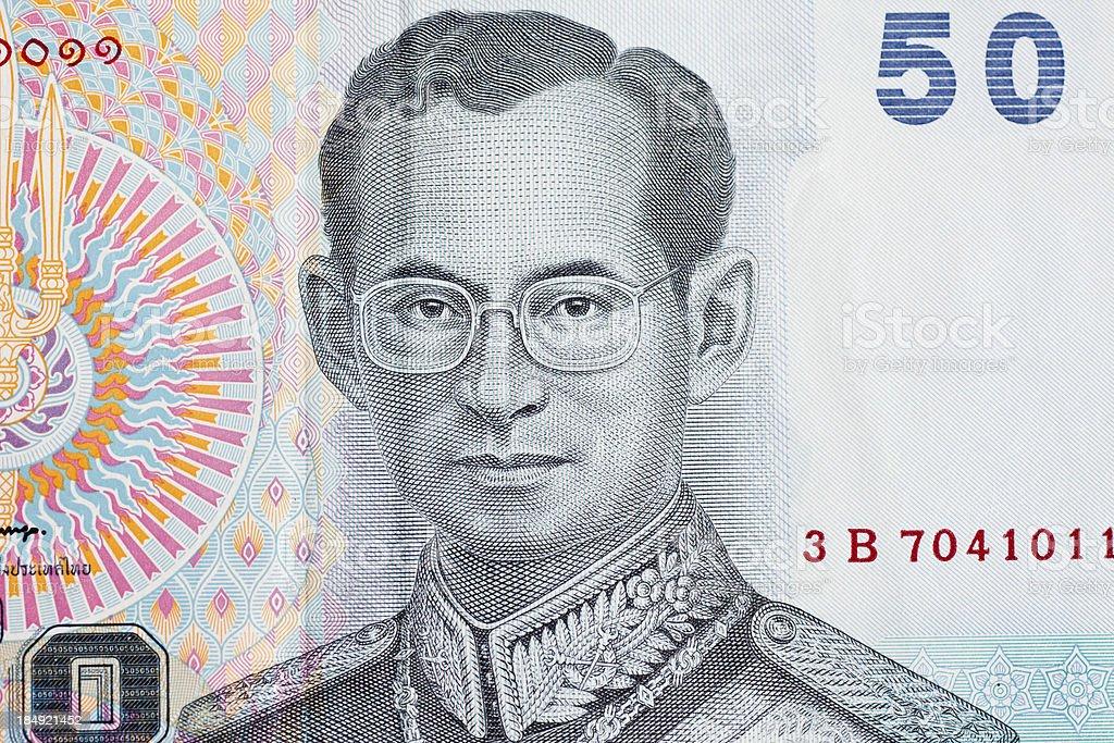 King of Thailand – 50 baht bill royalty-free stock photo