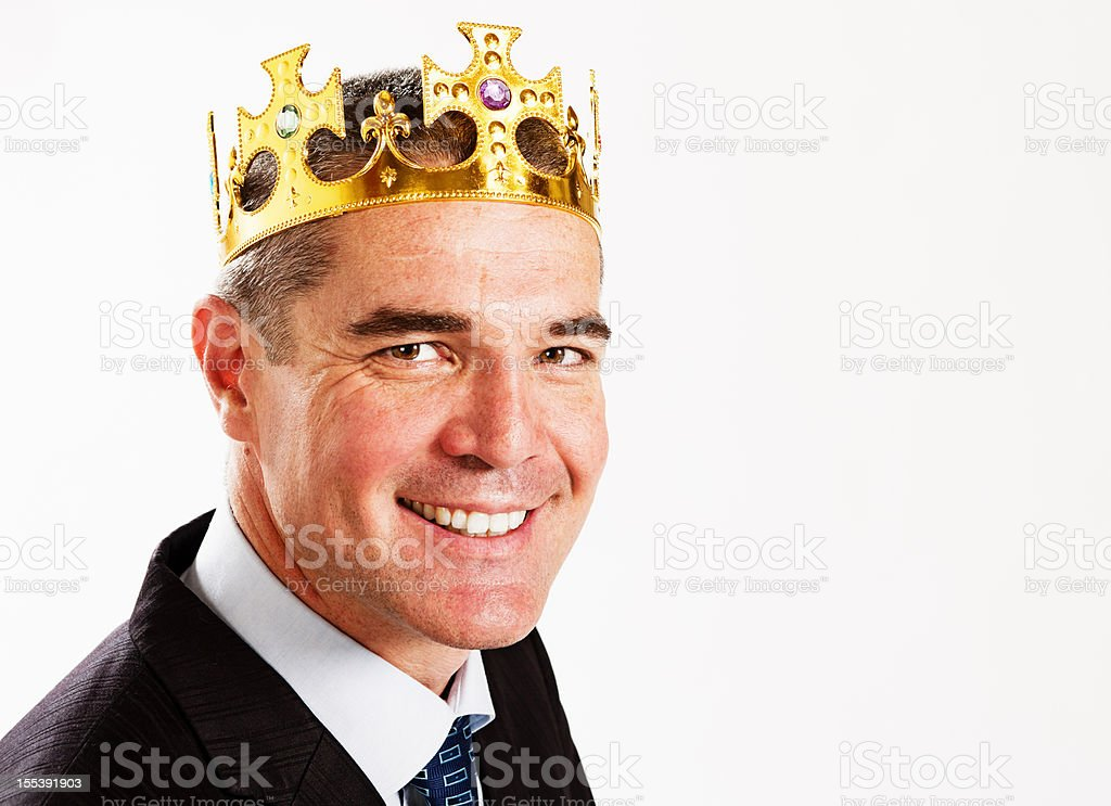 King of the business world stock photo