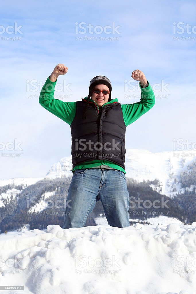 King of the mountains royalty-free stock photo