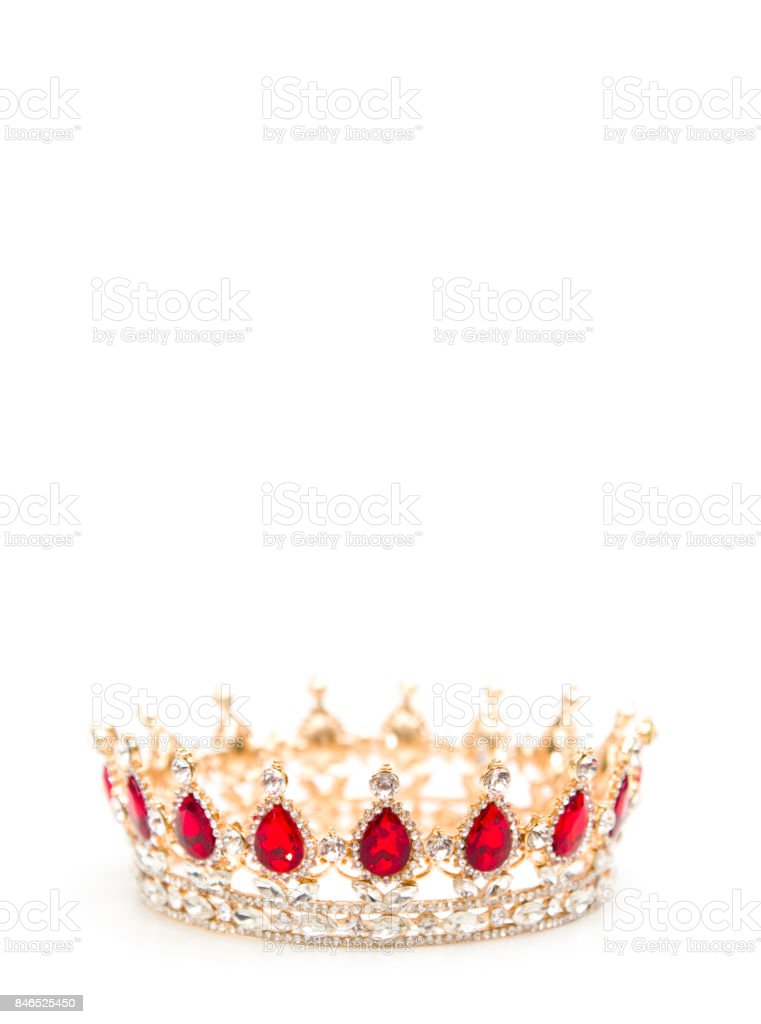 A King or Queen's Golden Crown stock photo