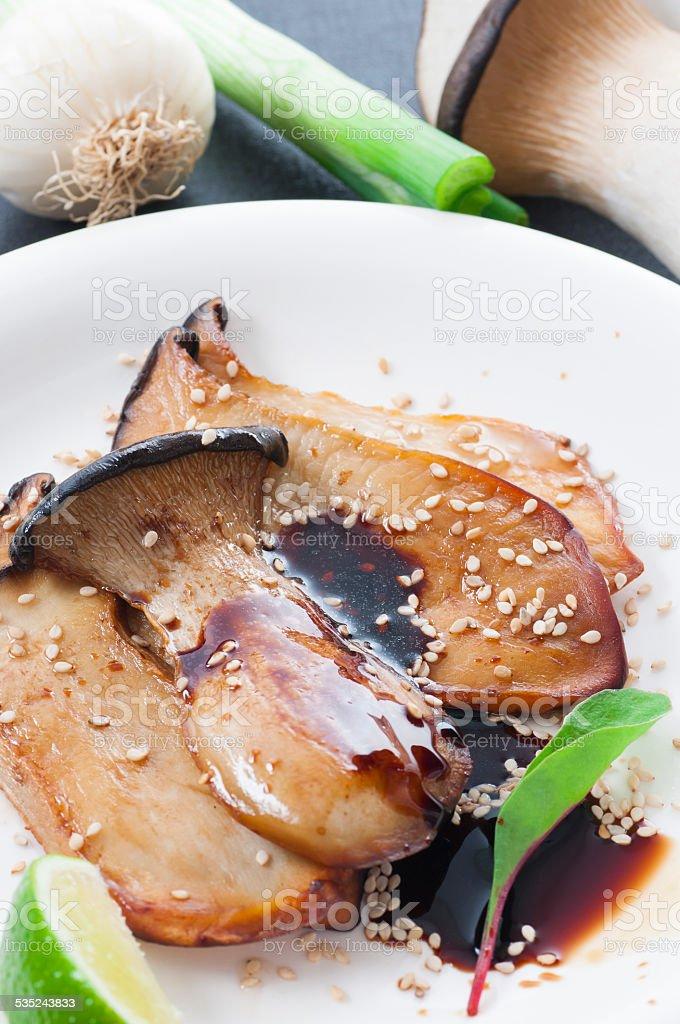 King Oyster Mushroom bildbanksfoto