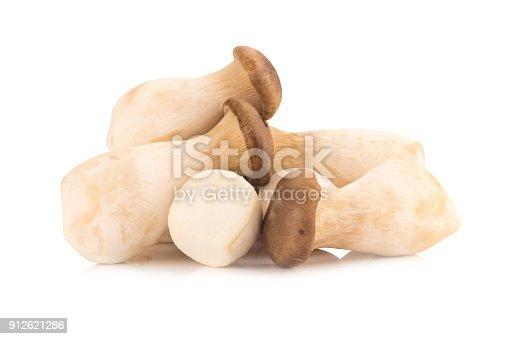 istock King oyster mushroom Pleurotus eryngii on white background 912621286
