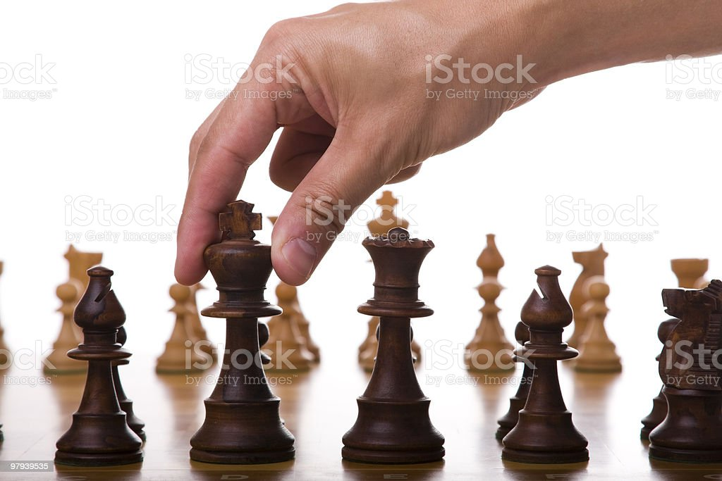 king piece move royalty-free stock photo