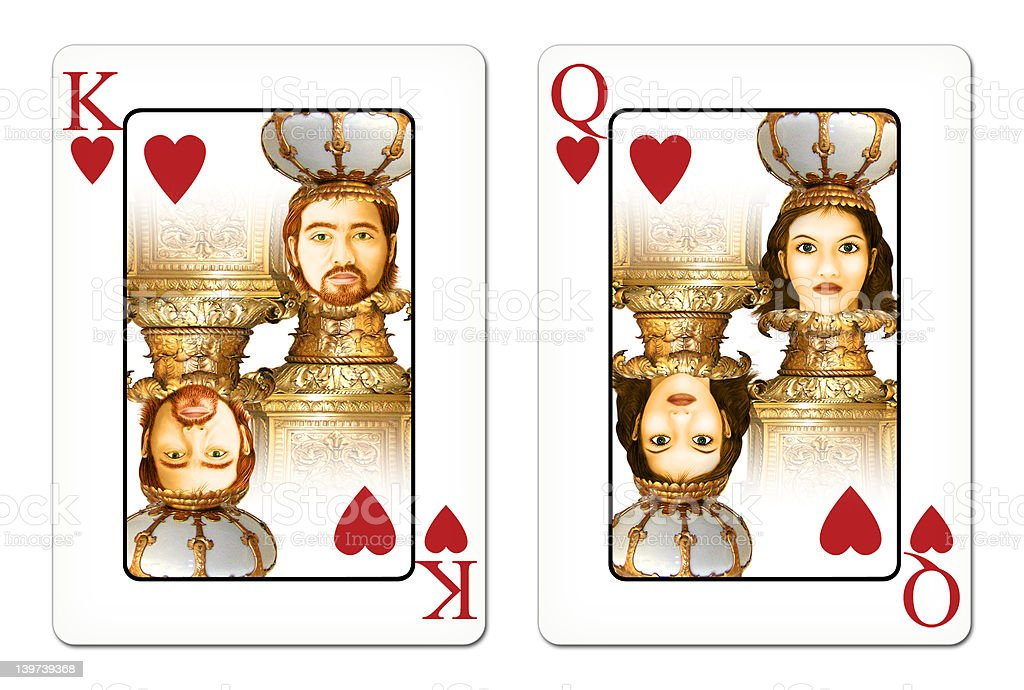 King & Queen royalty-free stock photo