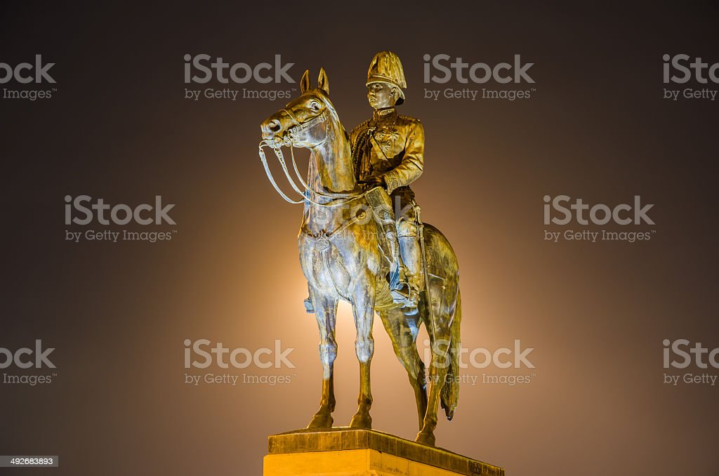 King Rama V Equestrian Monument(night time) stock photo