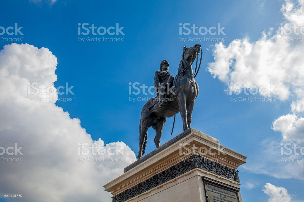 king rama v of thailand monument stock photo