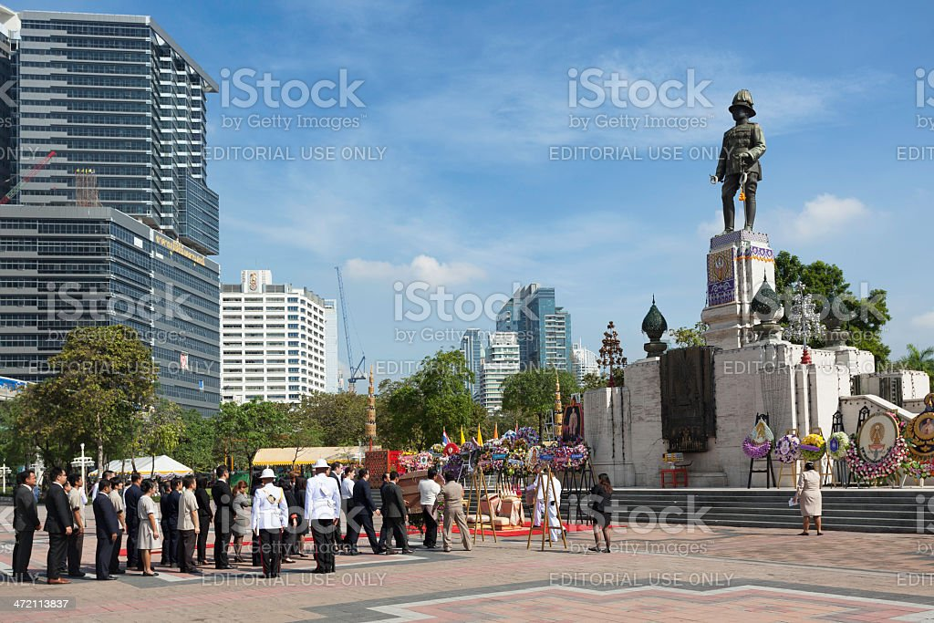 King Rama VI celebration royalty-free stock photo