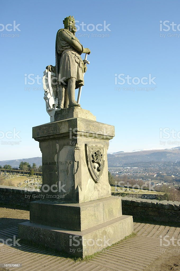 King Robert the Bruce of Scotland - Stirling Castle royalty-free stock photo