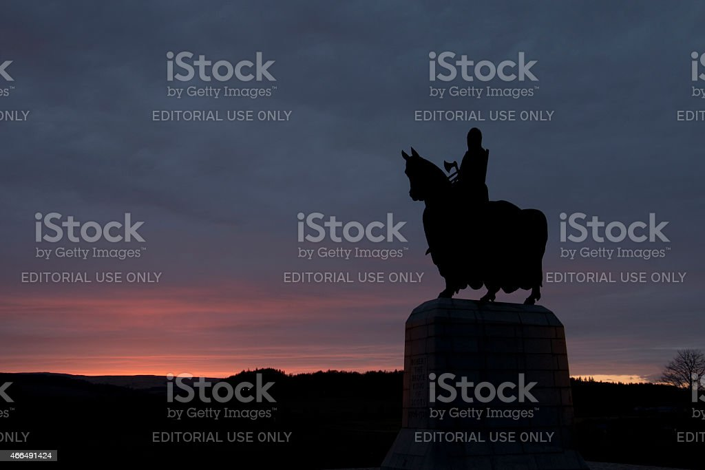 King Robert the Bruce stock photo