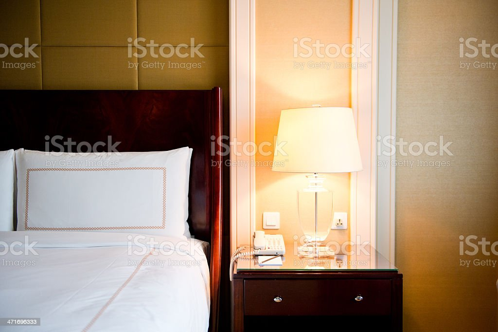 King sized bed royalty-free stock photo