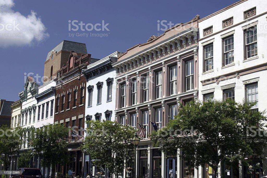 King Street - Charleston SC royalty-free stock photo